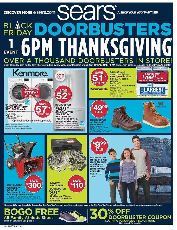 Sears Black Friday 2015 Ads And Sales Black Friday 2017 Ads Black Friday Black Friday Ads