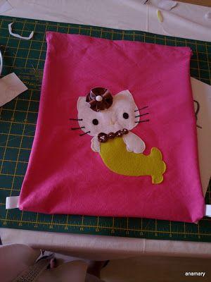 coser es fácil...: tutorial mochila playa Detalle de las cintas para pasar la cuerda