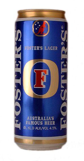 FOSTER'S Australian for Beer. (4.1/5)