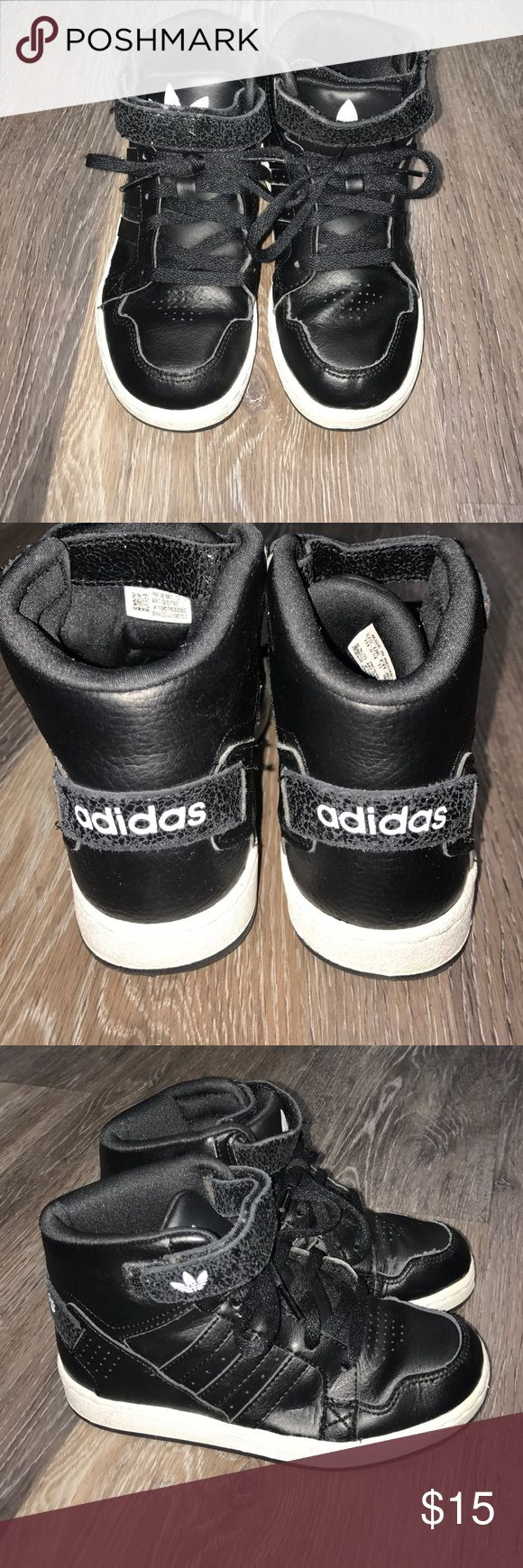 Boys adidas hightops Classic adidas, Ortholite style, all black w white detail, perfect condition Adidas Shoes Sneakers