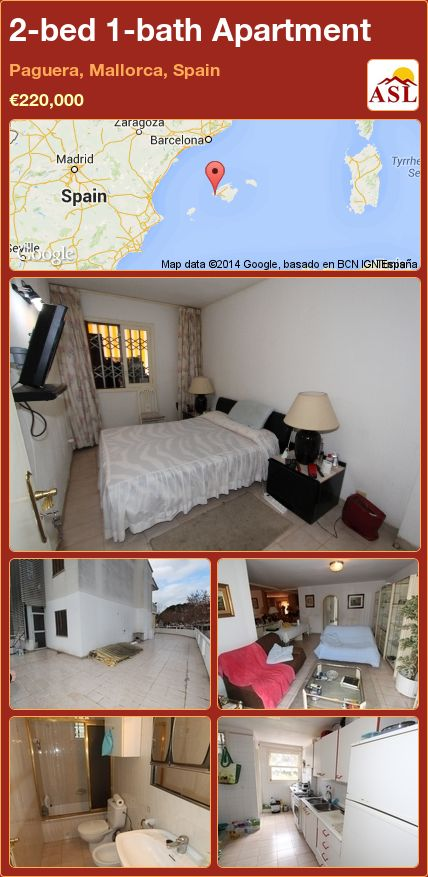 2-bed 1-bath Apartment in Paguera, Mallorca, Spain ►€220,000 #PropertyForSaleInSpain