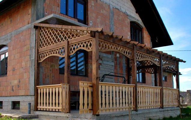Terasa Din Lemn 0010 Foisoare Garduri Terase Cabane Pergole Patio House Styles Cabin