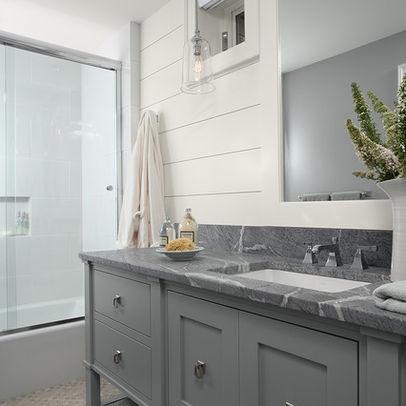Love The Soapstone Color For A Countertop Bathroom