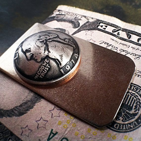 1974+Quarter+Money+Clip+40th+Birthday+or+by+CoinCollection+on+Etsy,+$34.00