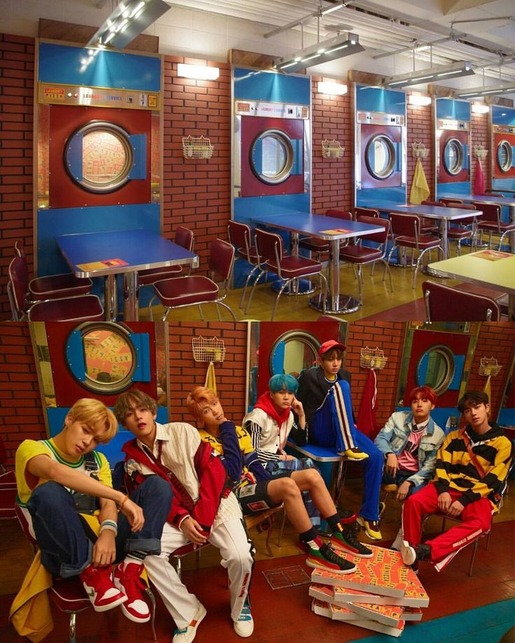 Bts Took Their Group Photo At Laundry Pizza In Gangnam
