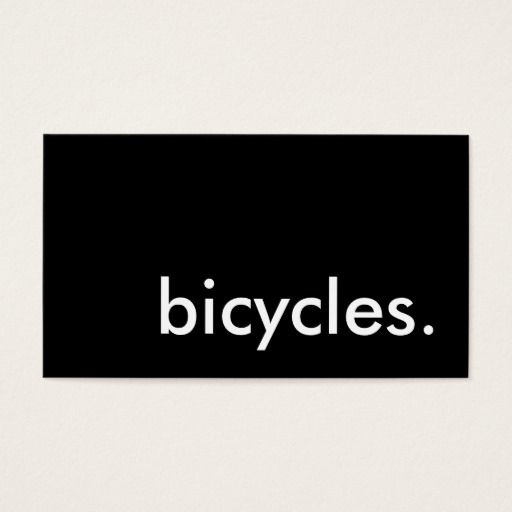 Bicycles business card bicycle business cards pinterest bicycles business card colourmoves