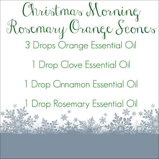 So many amazing holiday diffuser blends in this post! Love this Rosemary Orange Scones one!