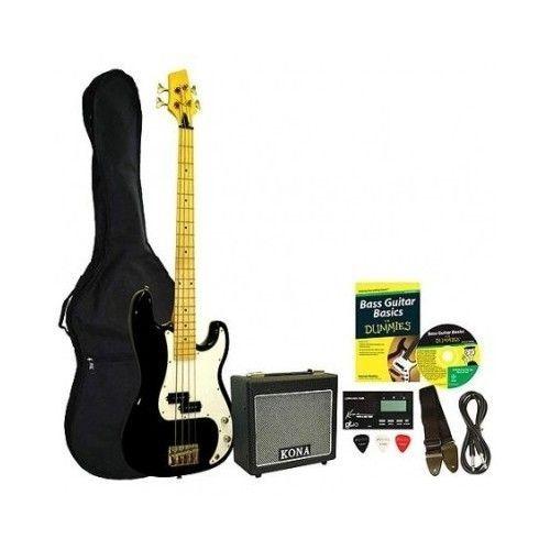 Bass Guitar Set Beginners Starter Pack Amp Gig Bag Musical Instruments New