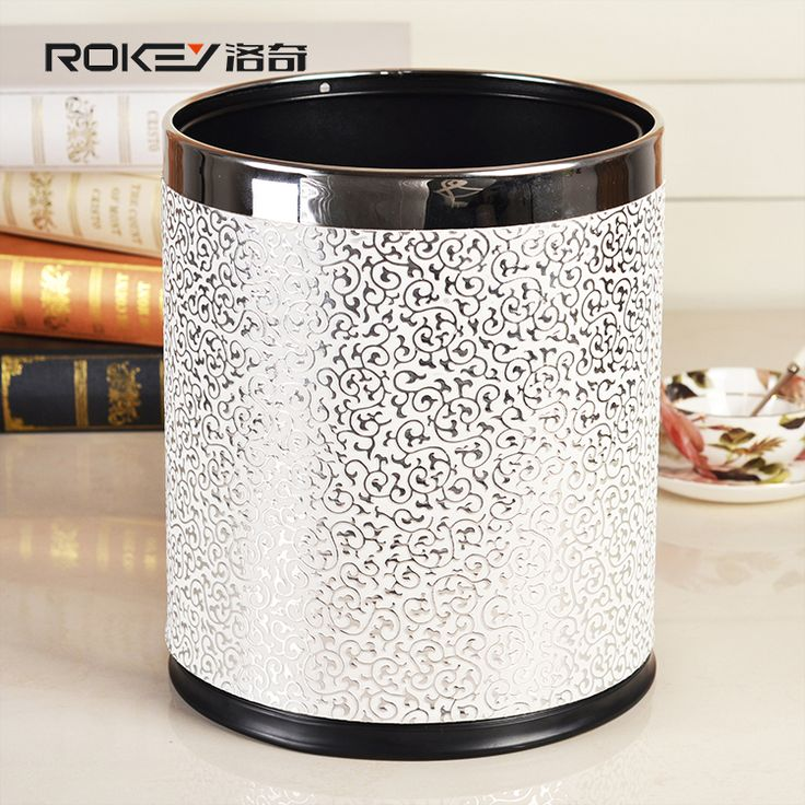 European High Grade Double Layers Leather Trash Cans For Kitchen Living  Room Bathroom Metal Stainless Waste Bin Without Cover - Cheap Product is  Available.