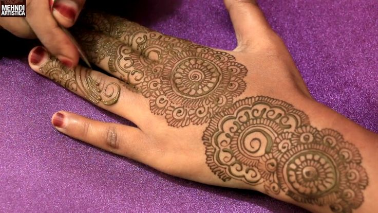 Traditional Circular Henna Mehndi Style For Gulf Wedding|Unique Creation...