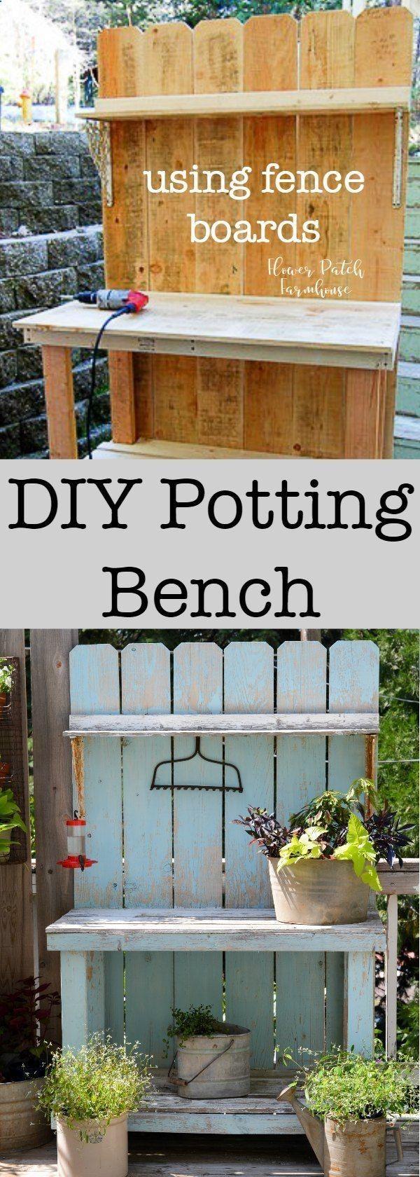 Shed DIY DIY Potting Bench using
