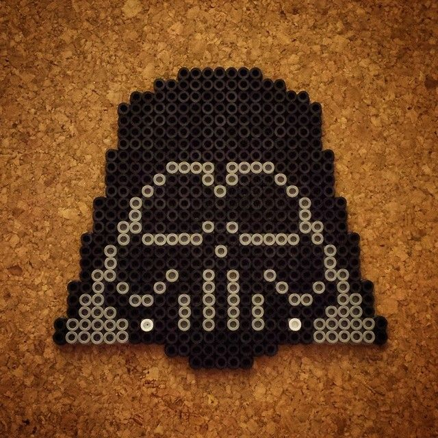 Darth Vader - Star Wars perler beads by halemark.handcrafts