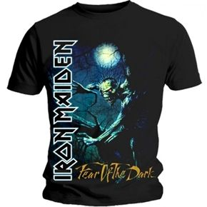 Official Iron Maiden shirt featuring Fear Of The Dark Tree Sprite design.