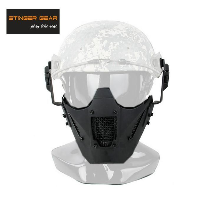 Stinger Gear Helmet Rail Jay Fast Mask Airsoft Mask Paintball Face Mask Black+Free shipping(STG050875)