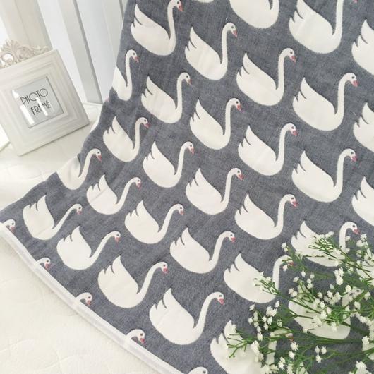 swan lake premium muslin blanket. Stroller blanket, crib blanket, nursery, decor: