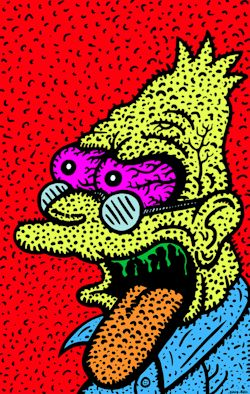 art trippy cartoon the simpsons psychedelic trippy gif psychedelic gif