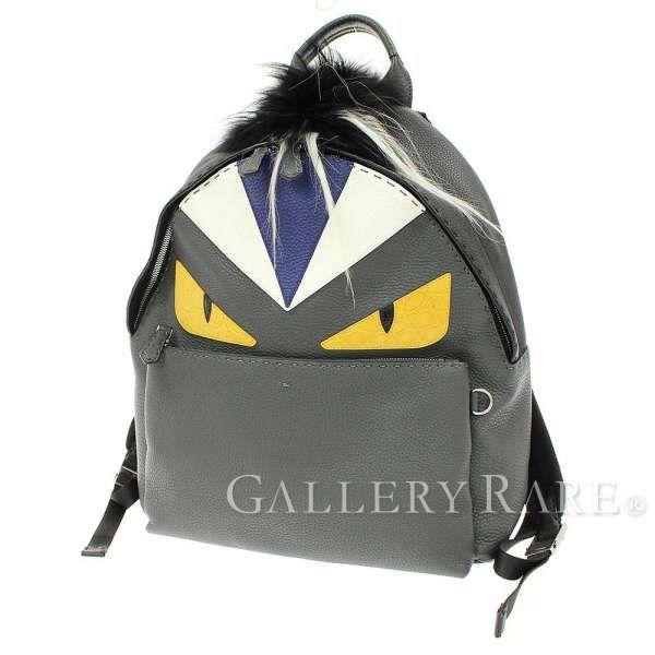フェンディ リュック セレリア モンスター バッグ バグズ バックパック 7VZ012 FENDI ローマンレザー メンズ Bag Bug