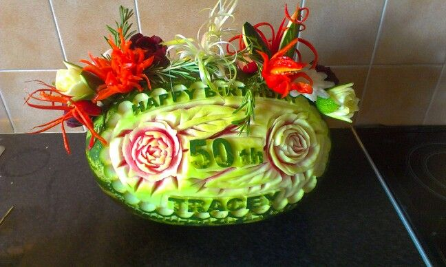 New water melon for 50th birthday party