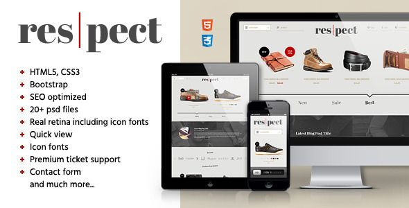 Respect - Edgy Shop / Blog HTML Template - Fashion Retail