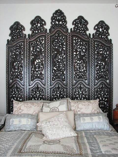 Room Divider As Headboard Interior Design In 2019 Wood