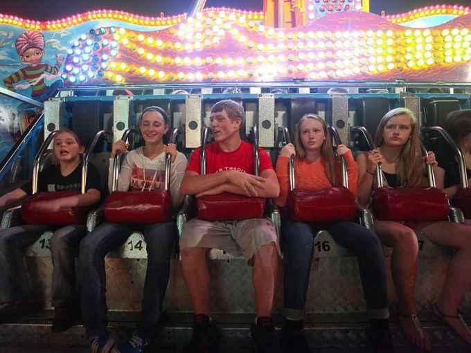From left to right, Maranda Ray, Jasmine Ray, Nick Allen, Kevyn Heckler And Jennifer Crabtree prepare for the Thousand Nights ride to start ...