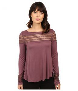 Free People Roxie Tee (Purple) Women's T Shirt