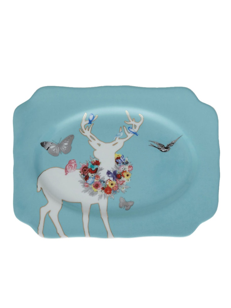 Rosanna Inc.  A Walk in the Woods Small Tray  $24: Wood Cut Odo, Wood Small