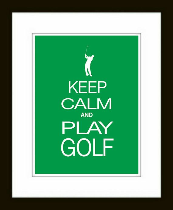 Golf Art Print  Keep Calm and Play Golf Poster