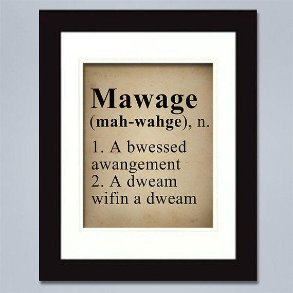.Mawage: A Bwessed Awangement