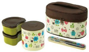 Hello Kitty (Scandinavian) fork case with heat insulation jar with lunch box KCLJ7DX (japan import)