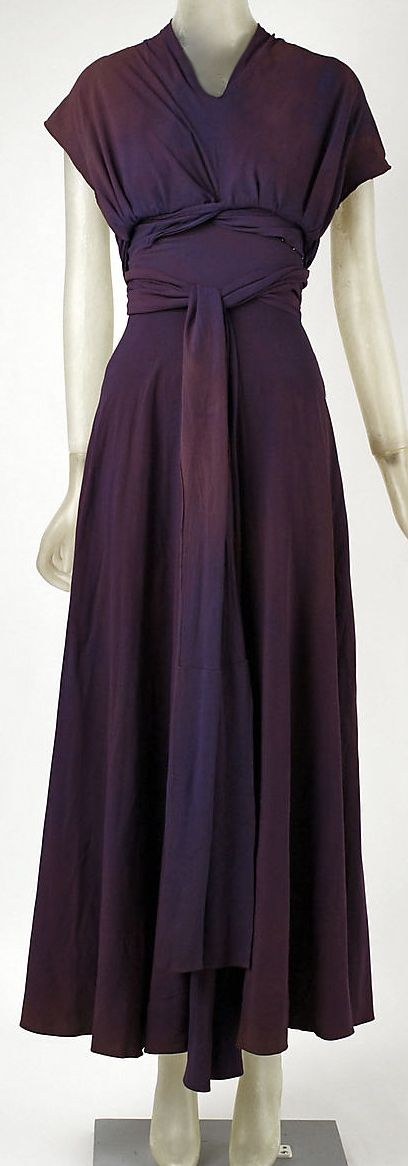 ~Vionnet Silk Evening Dress 1934: Met Museum~