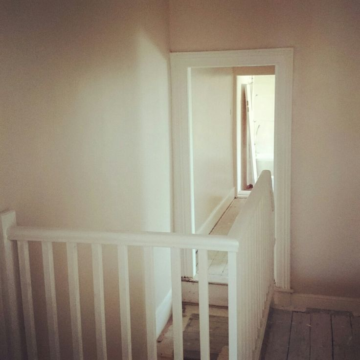 Hall, stairs and landing in Dulux Natural Hessian