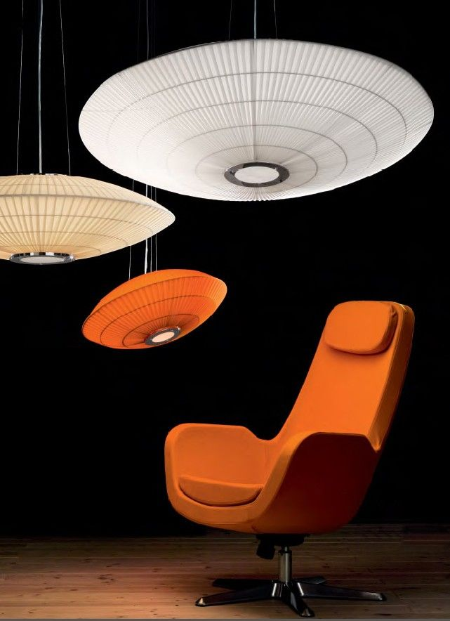 A reinterpretation of the flying saucer, a series of lighting fixtures with an intense impact, be combined offering numerous solutions. #UFO by #Lika