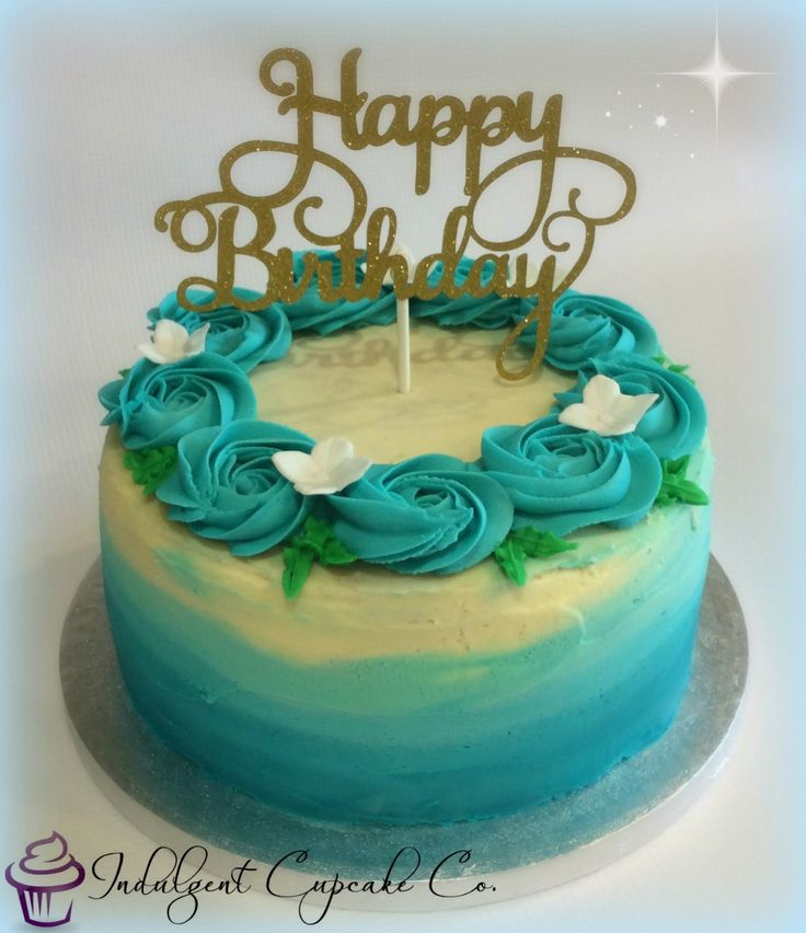 Ombre Birthday Cake.......