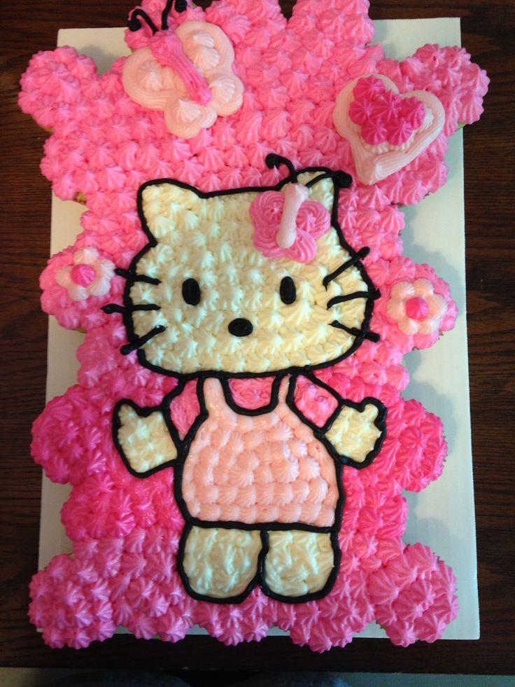 hello kitty baby shower cupcake cake baking pinterest