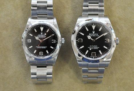MINIミニ時計の日常 時計屋さん☆むらまつ:ロレックス・エクスプローラーⅠ 214270 中古モデル