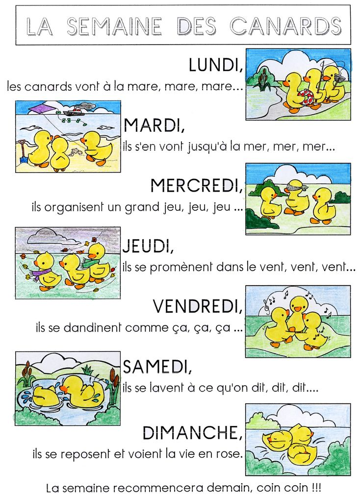 Mon petit doigt me l'a dit...: We are learning a new days of the week song!