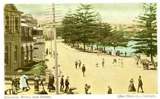 Esplanade Manly, near Sydney. (Photo undated).  v@e.