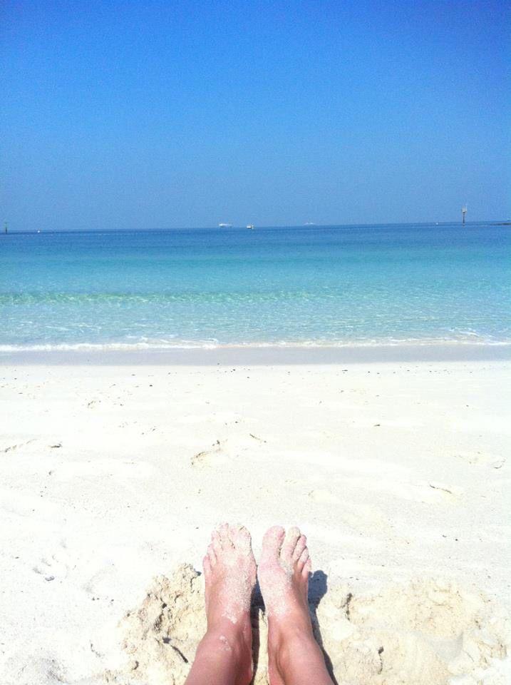 Sandy toes ... Dubai