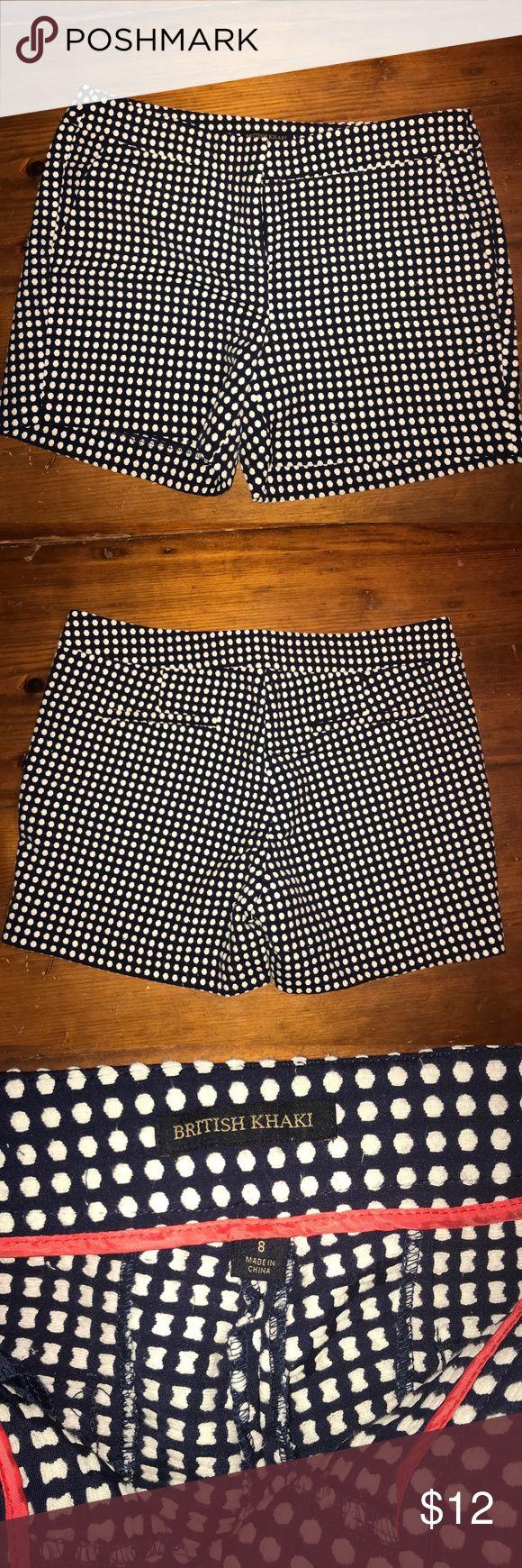 British Khaki Polka Dot Shorts Mint condition. Navy and white polka dot shorts. British Khaki Shorts