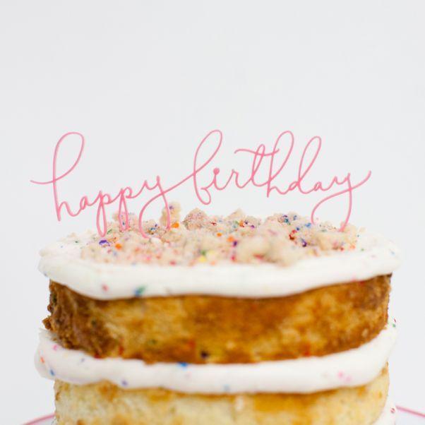 happy birthday script topper
