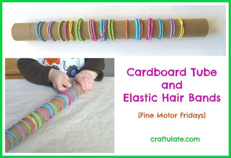 A Cardboard Tube and Elastic Hedbands