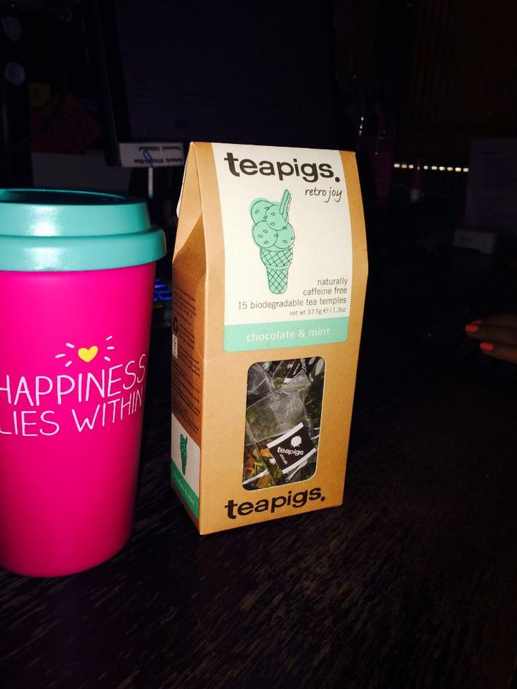 teapigs fan Isha is loving her chocolate and mint tea...and her awesome new cup