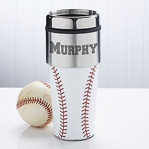Home Run Personalized Baseball Travel Mug - Sport & Leisure Gifts - Sport & Leisure Gifts