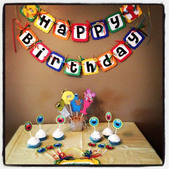 Sesame Street Birthday party Set Elmo Cookie Monster Abby Cadaby banner door sign  sc 1 st  Pinterest & 126 best Dex images on Pinterest | Birthday party ideas Elmo ... pezcame.com