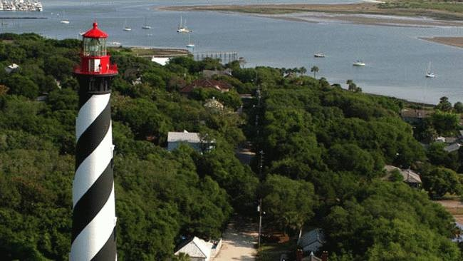 St Augustine Lighthouse, FL  St Augustine is the location of the first lighthouse built in FL: Favorite Places, Augustine Florida, Lighthouses, Haunted Places, 10 Scariest, Scariest Places, St Augustine