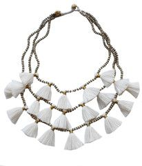 Gia Necklace - White by the Bluma Project