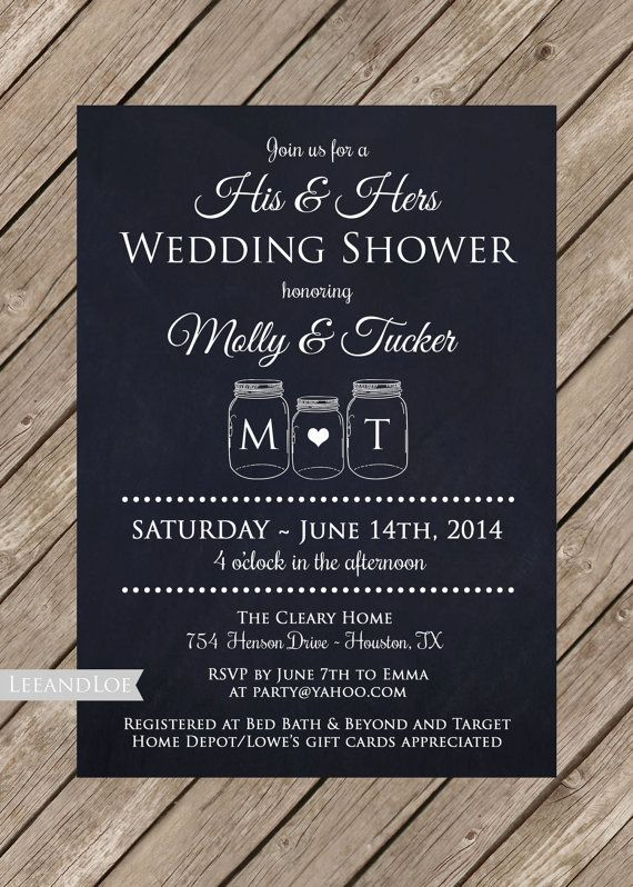 Couples Wedding Shower Invite