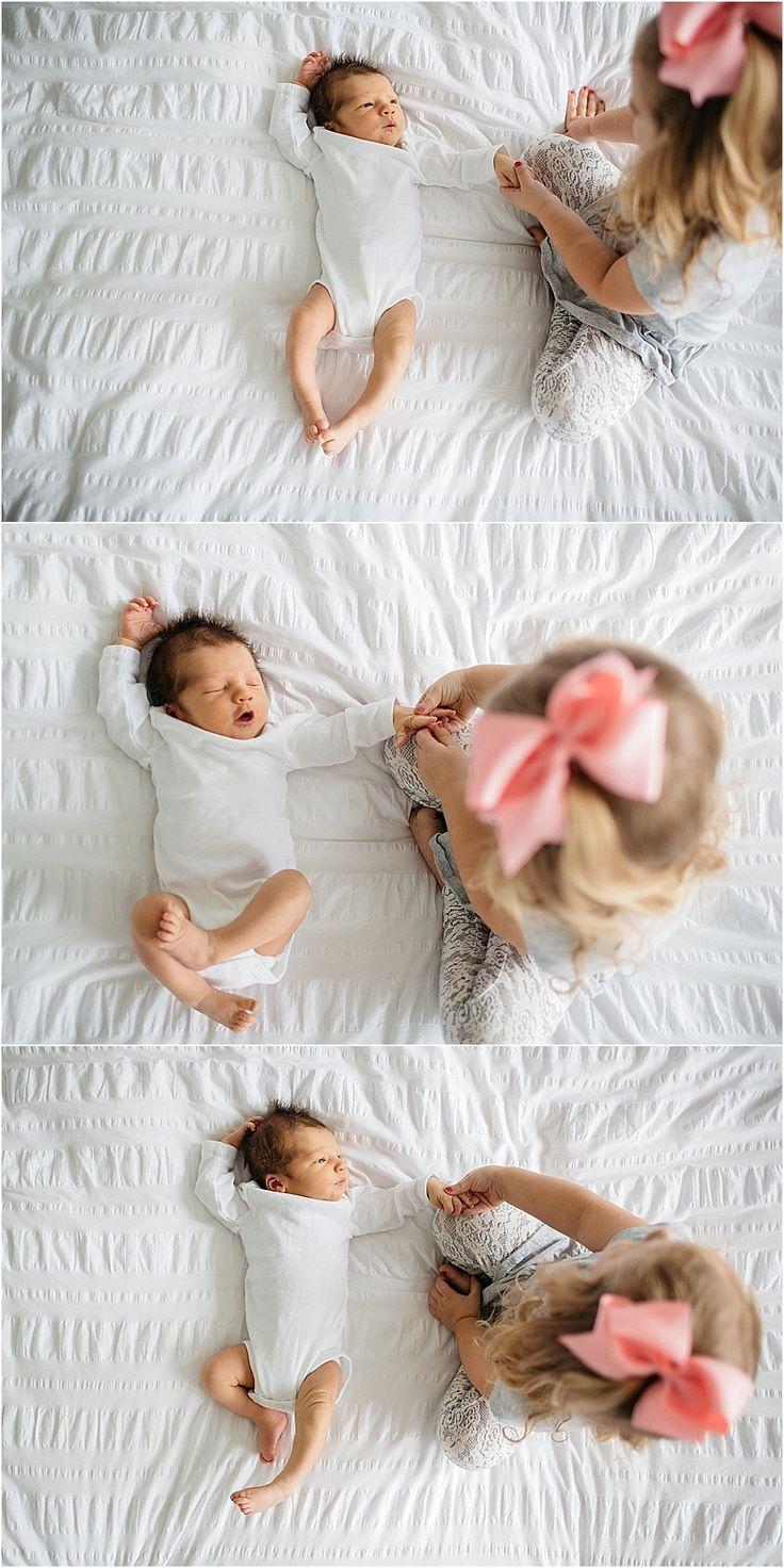 Big Sister and Little Brother. Kansas City Newborn Lifestyle Photographer. Allison Corrin Photography. www.allisoncorrin.com