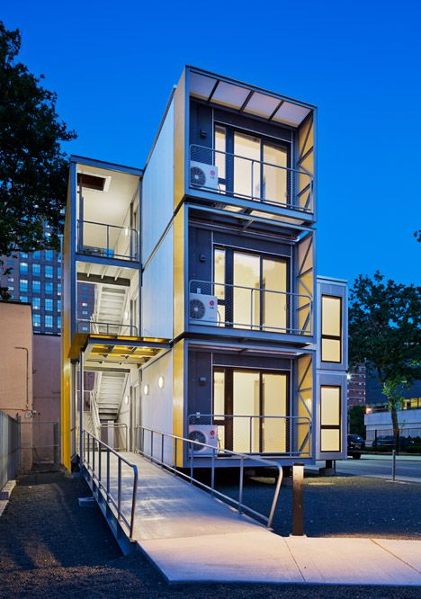 """Modular New York homes by Garrison Architects to """"create a blueprint for post-disaster housing""""."""